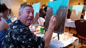Joe Felperin Painting at HCEA 2015